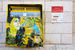 C215 @ Vitry (Paris - France) (un oeil qui traîne) Tags: street urban streetart paris france art stencil paint peinture 94 75 graffitis pochoir vitry vitrysurseine c215