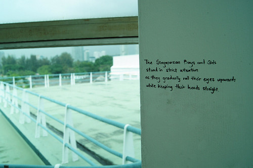 On the wall in Kallang Airport