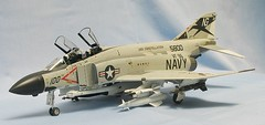 "F-4J Phantom II VF-96 ""Fighting Falcons"" (dm.miniatures) Tags: scale model fighter aircraft military jet phantom usnavy usn f4 hasegawa f4j 148 phantomii fighterbomber enamels militarymodelingjet"