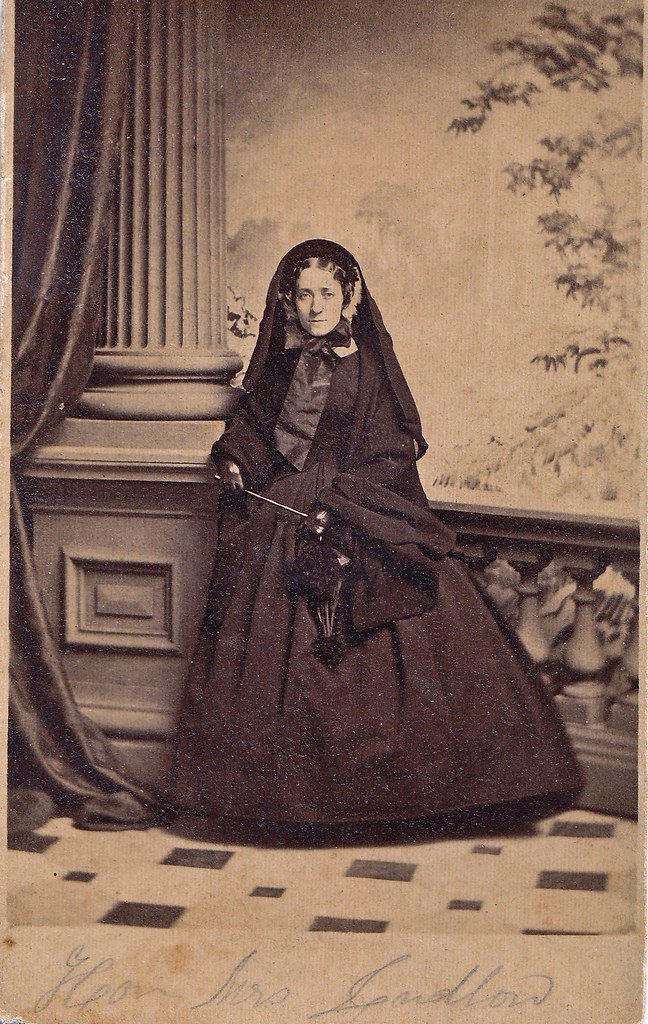 The Hon. Henrietta Ludlow in Mourning, Albumen Cart de Visite, Circa 1860
