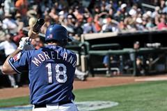 Mitch Moreland (caitlinwright) Tags: arizona baseball surprise batting texasrangers springtraining mlb sanfranciscogiants firstbase mitchmoreland surpisestadium
