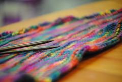 Learn-to-knit shawl or wrap (Bozeman Yarn Shop) Tags: spring bozeman samples demos classes yarnshop