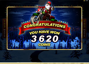 free Santa's Wild Ride free spins feature win