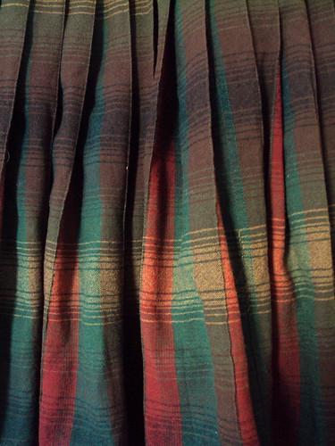 Plaid Wool Vintage Skirt (detail)