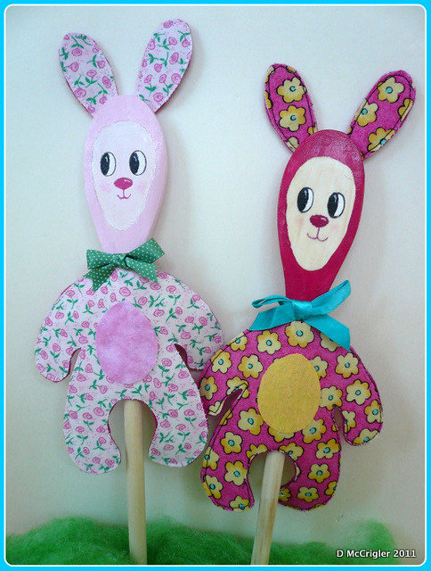 Bunny Wooden Spoon Puppet