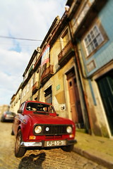 Evening in Porto (TravellingCello) Tags: world street red blur heritage portugal canon retro unesco porto minature 60d tokina1116mmf28 tokina111628