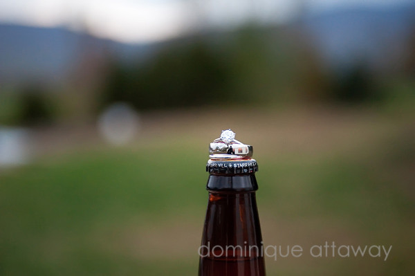 wedding rings and star hill beer