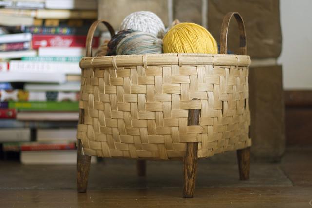 yarn-filled basket