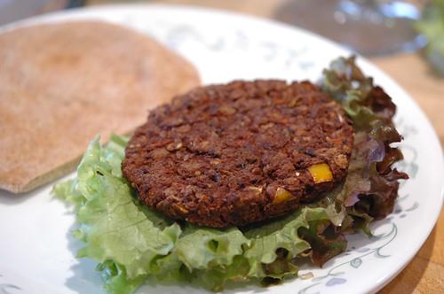 Black Bean Burger w/ Lettuce