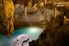 water supply  [Explore, NG Photo of the Day!] (jpaulus) Tags: water pool underground mexico tripod yucatan explore cenote cave peninsula stalactite stalactites the4elements d700 dragondaggerphoto dragondaggeraward