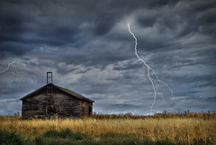 Thunder Storm {Edit} (VanGorkum Photography) Tags: copyright storm barn lens photography photo washington nikon flickr photographer image farm c picture cities pic stephen photograph wa lightning af d200 nikkor tri 70300mm thunder edit flickrcom tricities f456 vangorkum {edit}