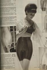 Spiegel 1963 black girdle and bra set (genibee) Tags: woman black fashion vintage costume underwear spiegel bra catalog 1960s sixties lycra 1963 girdle slimmer