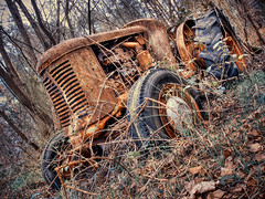 Oxidation (ShrubMonkey (Julian Heritage)) Tags: old tractor rot abandoned rust decay used forgotten oxidation copper decomposition trojan left decline dilapidation hdr dumped corrode thursleycommon deteriorate colorphotoaward mygearandme worldmachineshdr