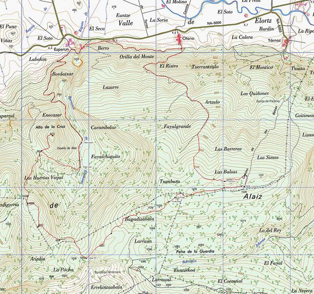 Mapa Circular Alaiz