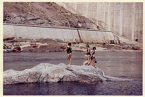 Kariba below the the dam wall 1964
