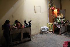 Left Hand Rotation (lefthandrotation) Tags: flowers playing flores peru girl america child play faith religion altar nia mercado latino latina fe juego rincon jugando sudamerica chachapoyas colorphotoaward