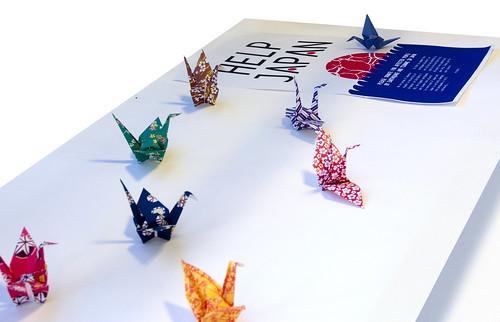 Help Japan Brighton University Peace Cranes