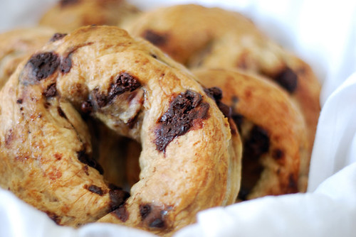 Chocolate Chunk Bagels