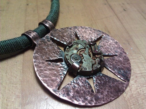 Copper clockwork compass