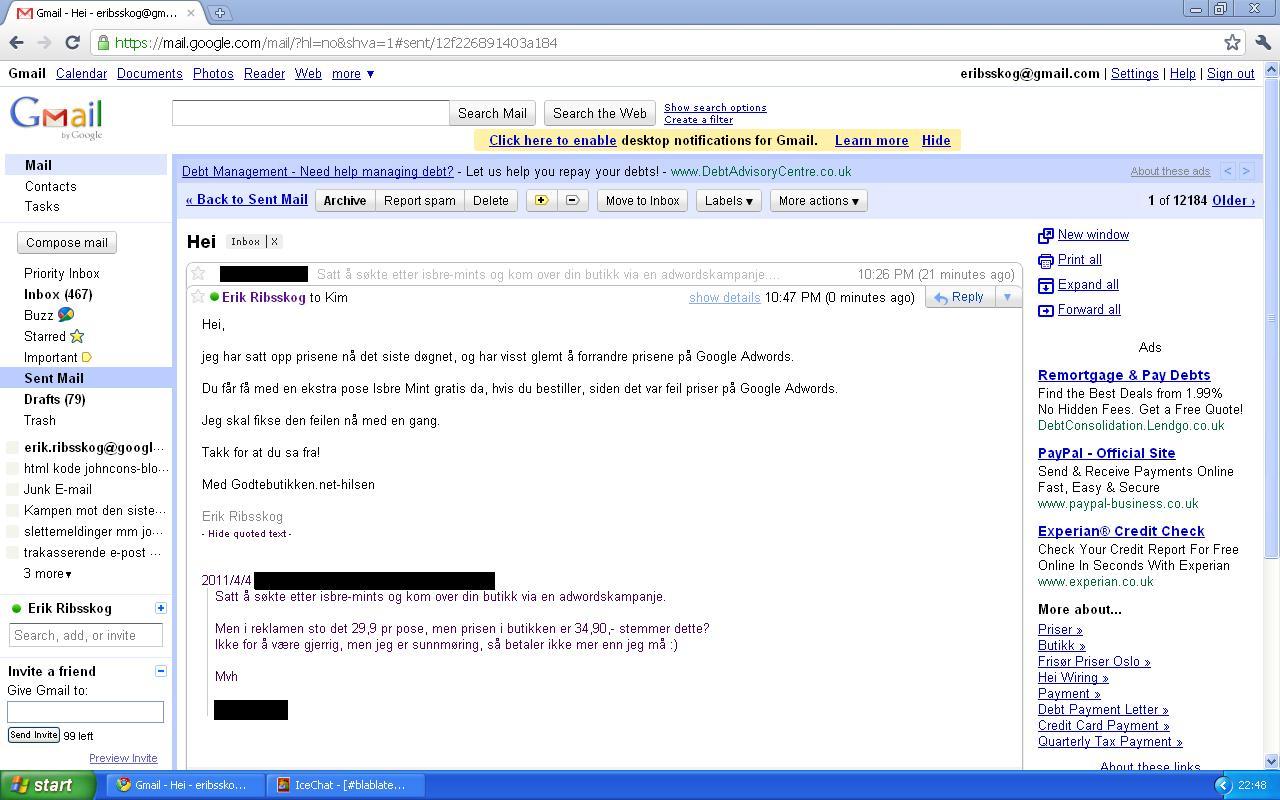 mer fra godtebutikken.net adwords