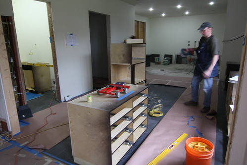 Kitchen cabinetry install