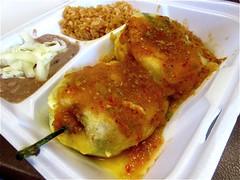 Chile rellenos (PardonMyCrumbs) Tags: tacos tamales inlandempire chilerellenos tacospalmitas