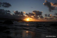 El espritu del Sol, se ve reflejado en la Tierra: Coleccin (Aysha Bibiana Balboa) Tags: atardecer noche agua nubes ocaso anochecer reflejos rayosdesol efectoseda atardecerenlaplayadelascanteras