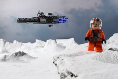 Farewell to the Falcon (Blockaderunner) Tags: rebel star back lego luke millenium empire falcon wars strikes hoth skywalker 7778