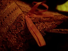 ribbons and lace (obliviousjuliana) Tags: macro contrast canon vintage ribbons lace g12 darkbackground canong12