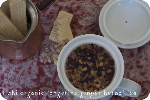 rishi organic tangerine ginger herbal tea