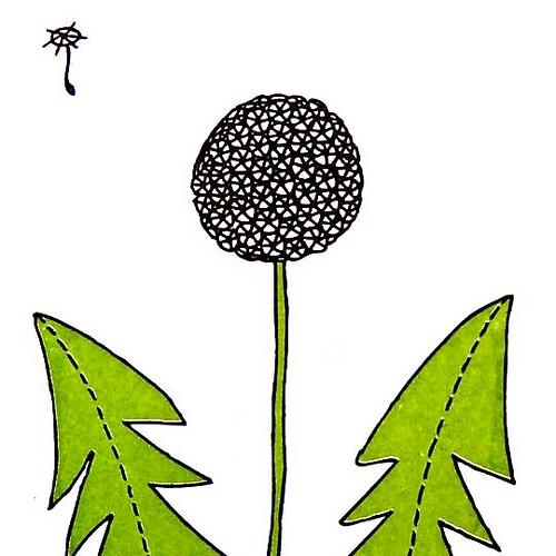 dandelion gocco print