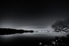 Hamilton Harbour (Ivan Sorensen | www.ivansorensenphotography.com) Tags: light sky blackandwhite ontario canada reflection water monochrome night stars landscape nikon natural bright horizon hamilton hfg d90 niksoftware capturenx2 nikcep