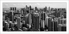 The Layer Cake (night86mare) Tags: city panorama 35mm buildings ir singapore cityscape stitch monotone kr bnw