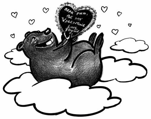 Groundhog Celebrates Valentine's Day: 2011
