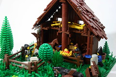 Nativity Scene Details (Siercon and Coral) Tags: christmas baby animals angel barn joseph star sheep lego shepherd mary jesus story manger bible wisemen nativityscene moc afol