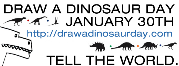 DRAW A DINOSAUR DAY IS COMING!