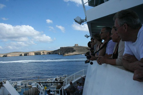 Inside ferry boat to Gozo Island in Malta