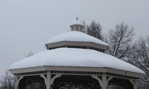 Snow Covered Gazebo