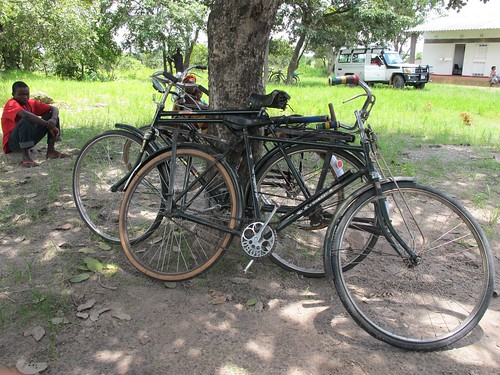 Bicycles at Mpepo Rural Health Centre, Mpika, Zambia