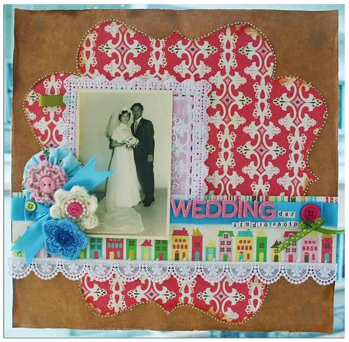 Wedding day studio photo