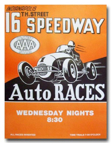 Poster for the 16th Street Speedway