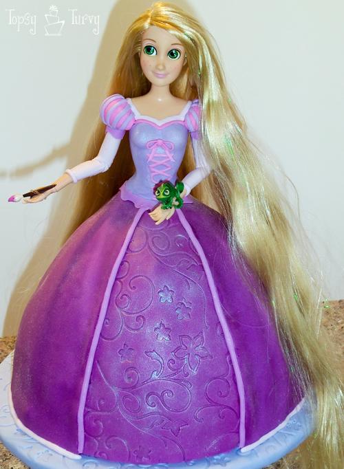 Princess Rapunzel Cake Tutorial Ashlee Marie Real Fun With Real Food