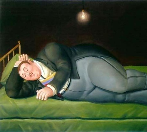 Fernando Botero, Sleeping President Presidente Durmiendo