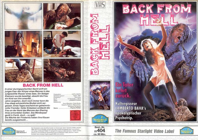 Back From Hell (VHS Box Art)