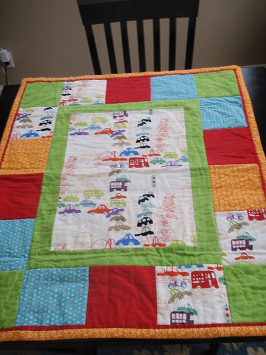 Baby Traffic Quilt for Robbie :)