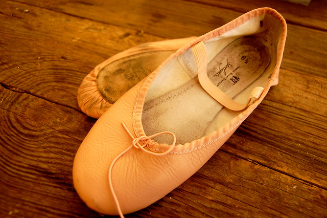 old ballet slippers