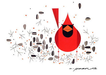cardinal by charley harper
