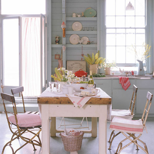 pale pink kitchen chairs house to home