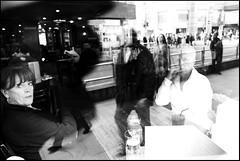 Blending faces (Ambra Vernuccio) Tags: urban london streetphotography spnp streetphotographylondon ambravernuccio streetphotographynowproject instruction18 reflections2012