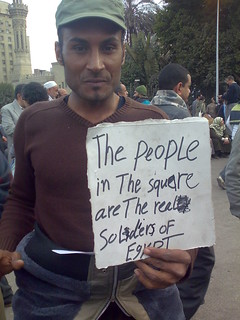 From flickr.com/photos/38290178@N06/5416147295/: The People in the Square Are the Real Soldiers of Egypt